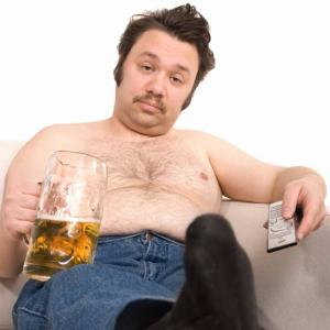 Тучный мужчина