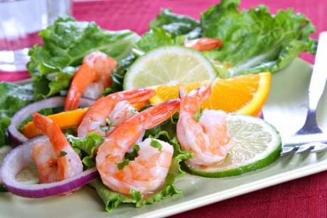Показаны морепродукты