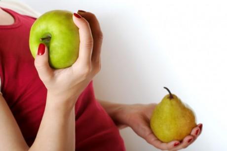фигура, больше похожая на яблоко, чем на грушу