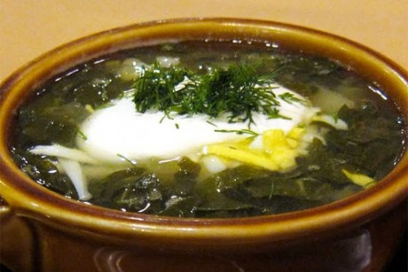 Рецепт украинского зеленого борща